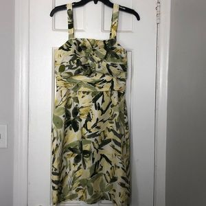 BR 100% Silk Strapless Ruched Formal Dress Size 4